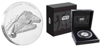 Millennium Falcon Ultra High Relief Coin at NZ Mint