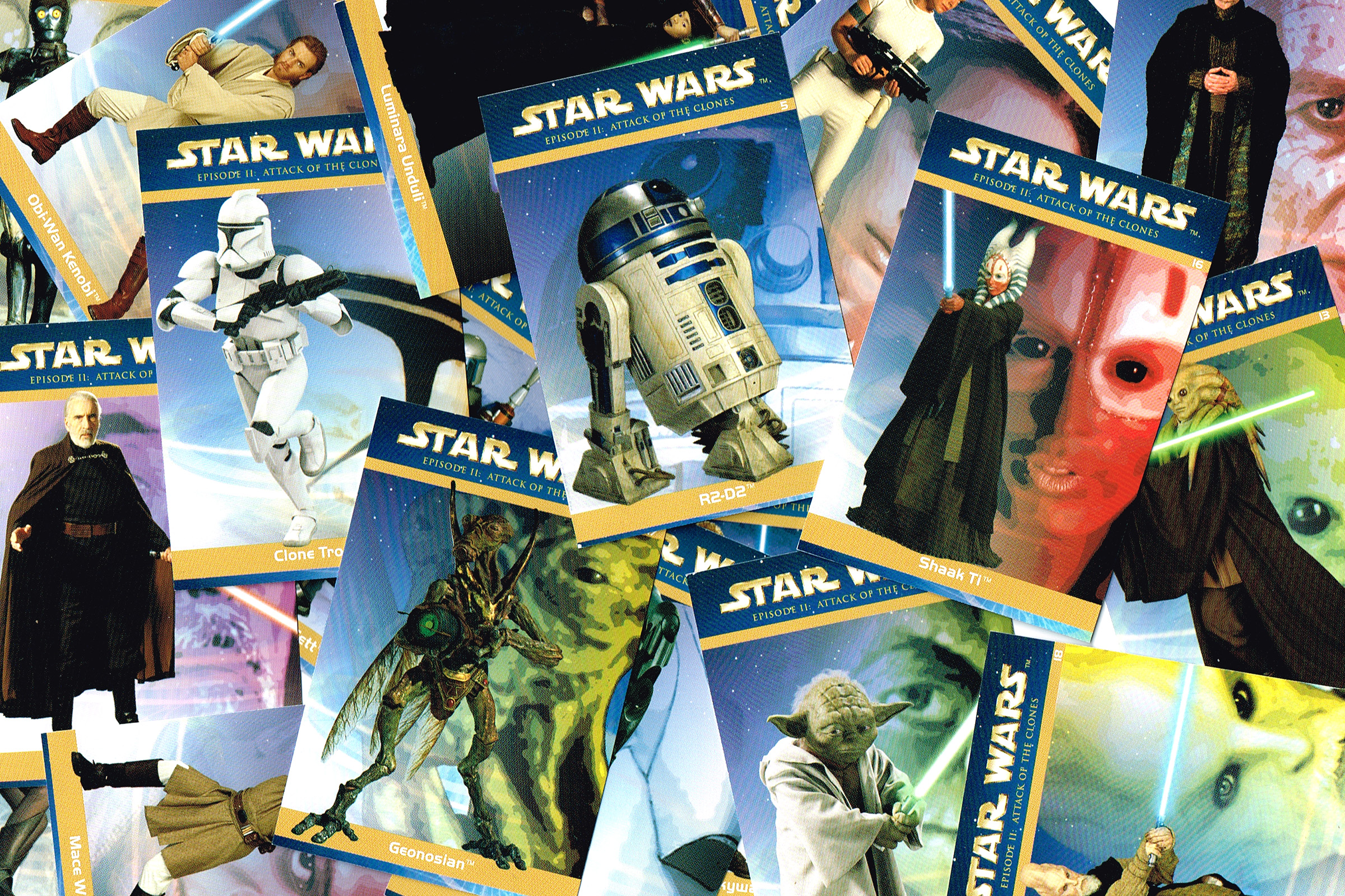 """Taste the Magic"" Star Wars: Episode 2 Trading Cards"