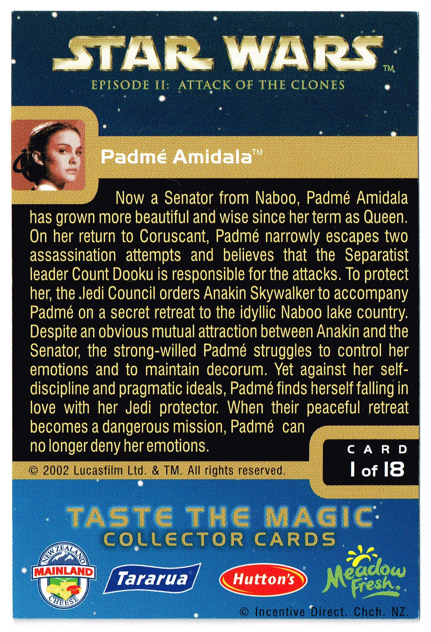 """Taste the Magic"" Collector Card 01 - Padme Amidala"