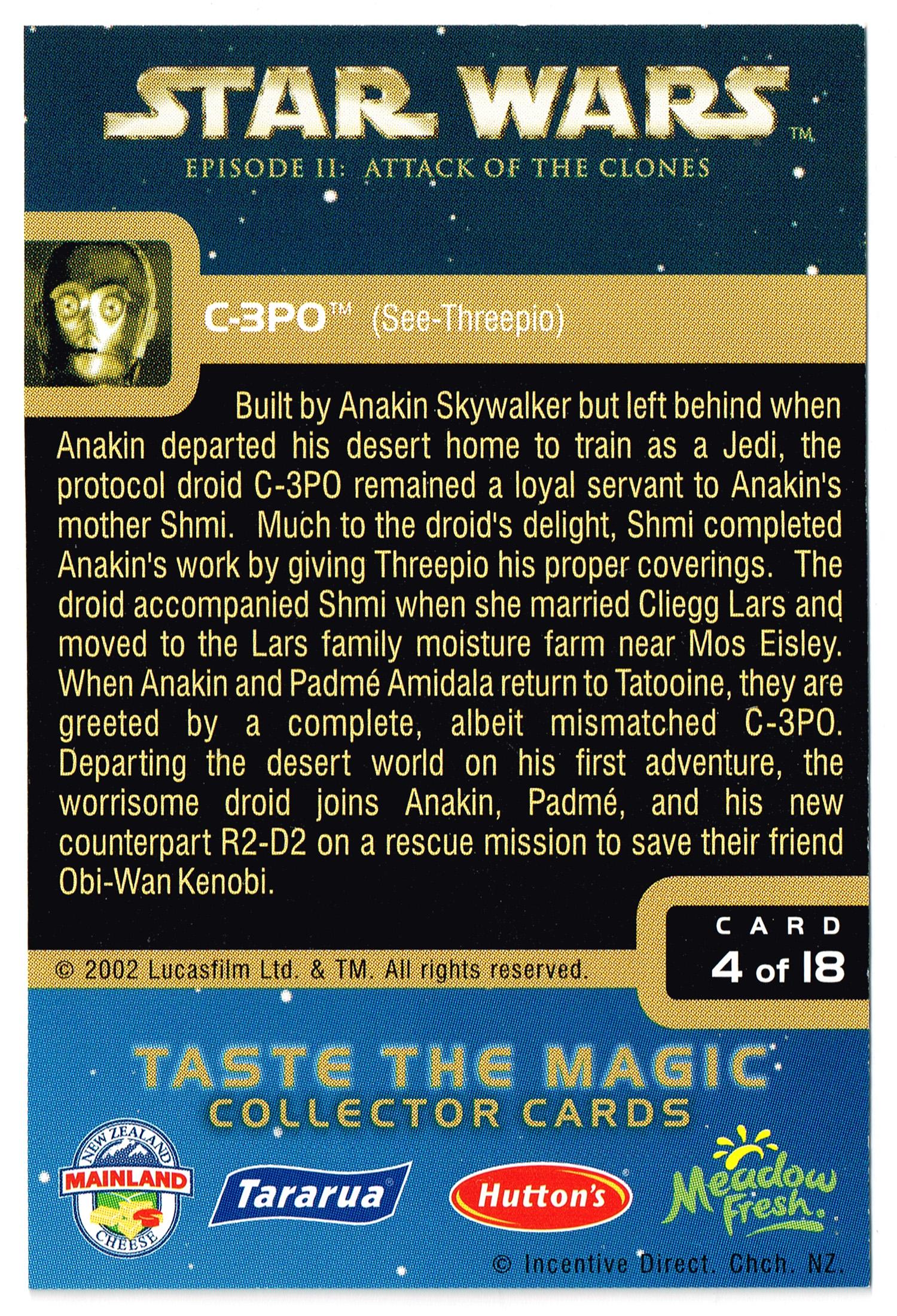 """Taste the Magic"" Collector Card 04 - C-3PO"