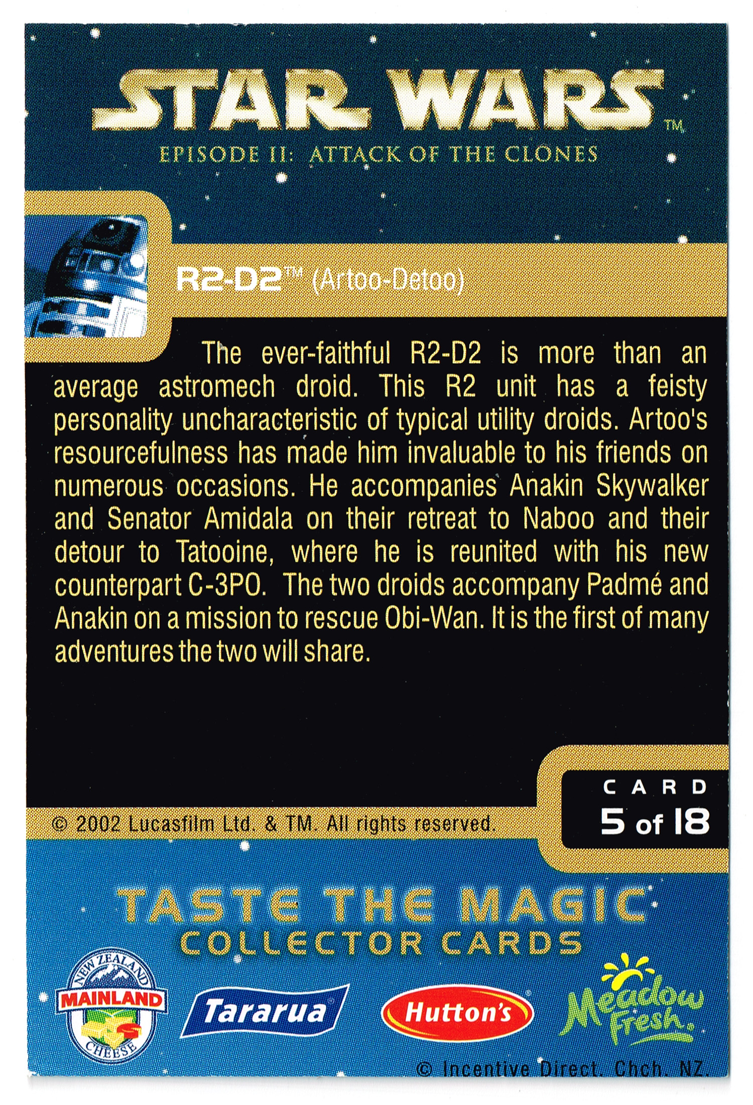 """Taste the Magic"" Collector Card 05 - R2-D2"