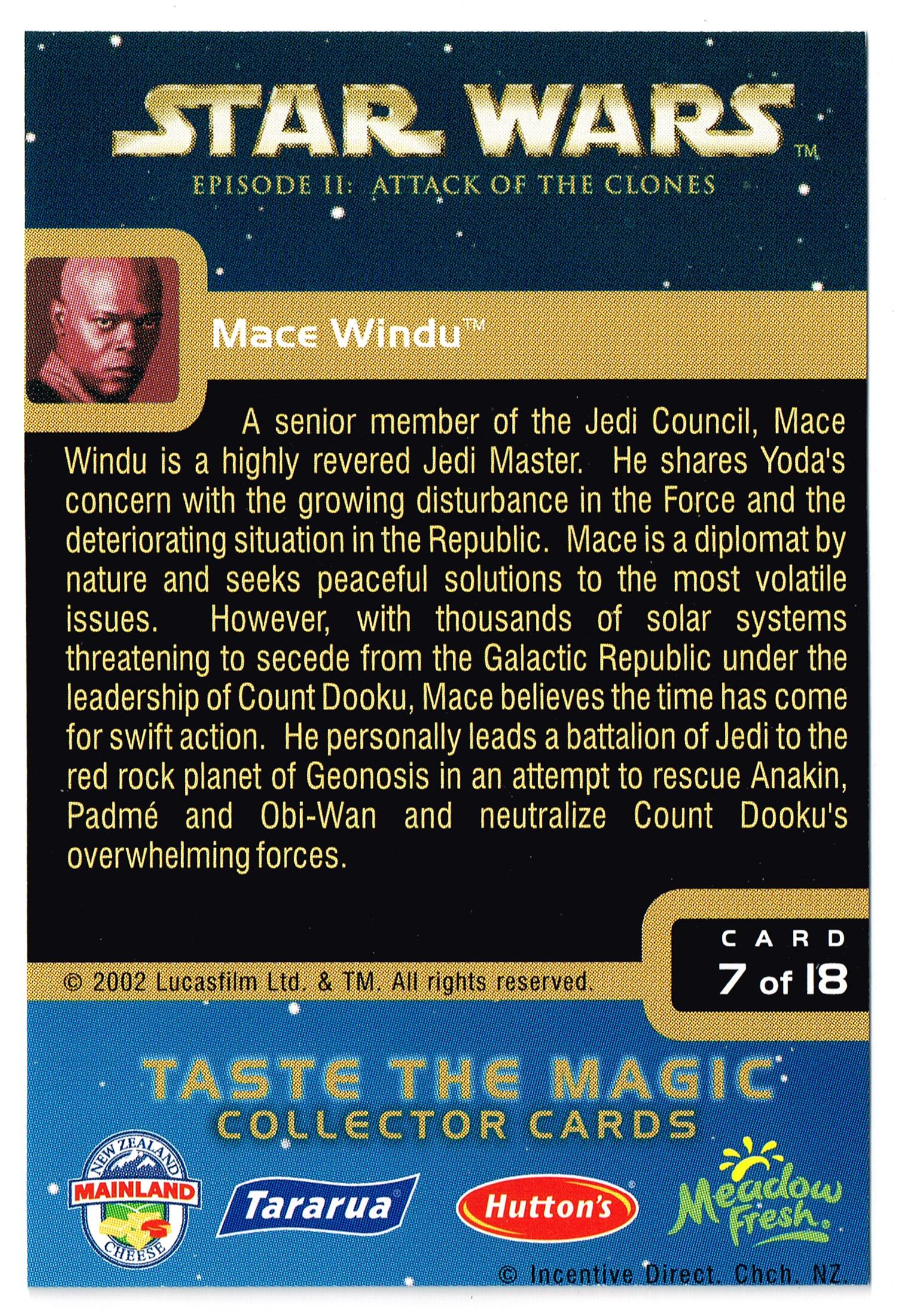 """Taste the Magic"" Collector Card 07 - Mace Windu"