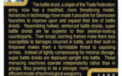 """Taste the Magic"" Collector Card 10 - Super Battle Droid"