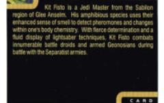 """Taste the Magic"" Collector Card 13 - Kit Fisto"