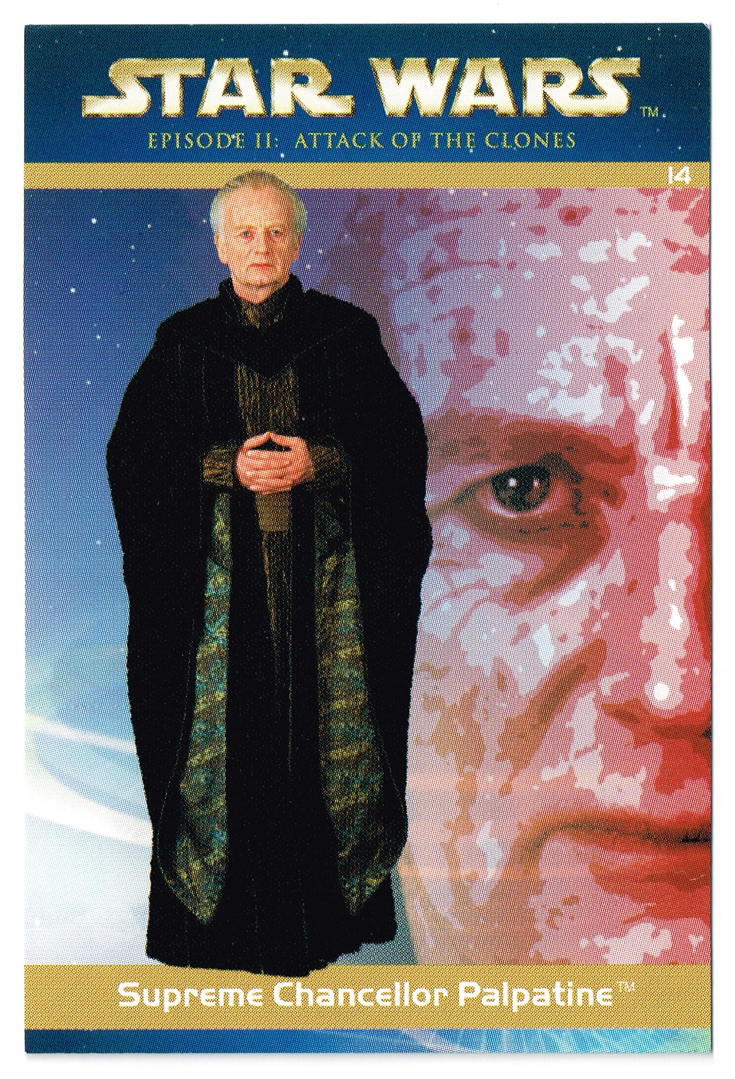 """Taste the Magic"" Collector Card 14 - Supreme Chancellor Palpatine"