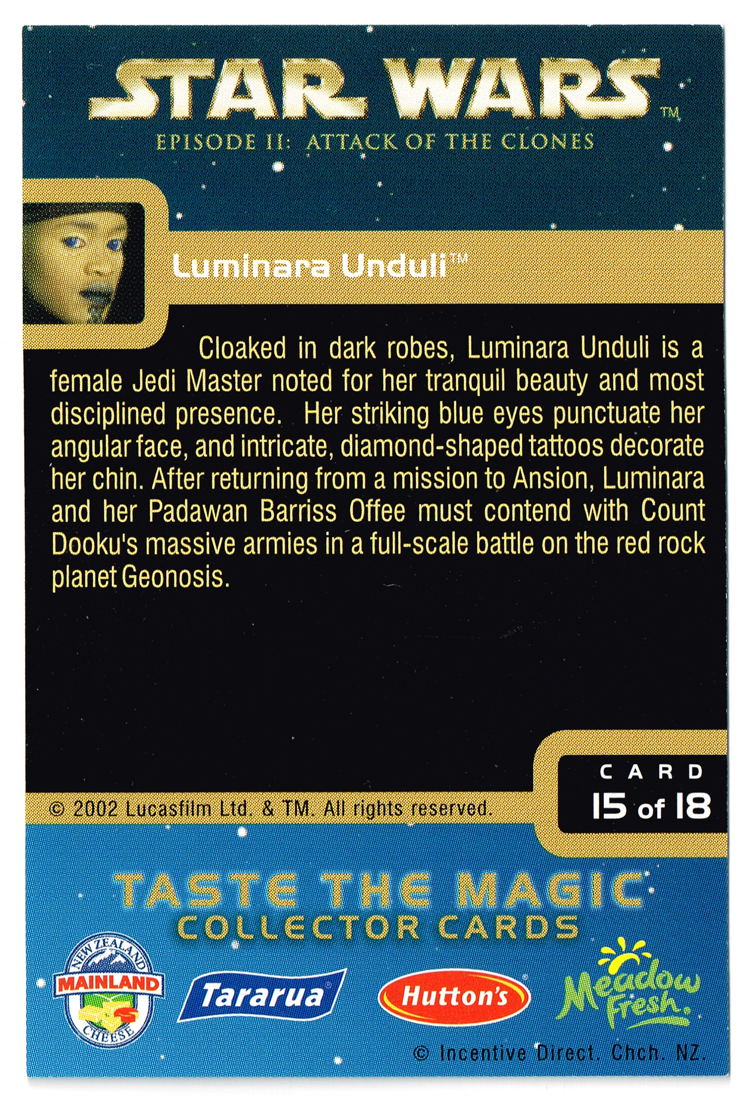 """Taste the Magic"" Collector Card 15 - Luminara Unduli"