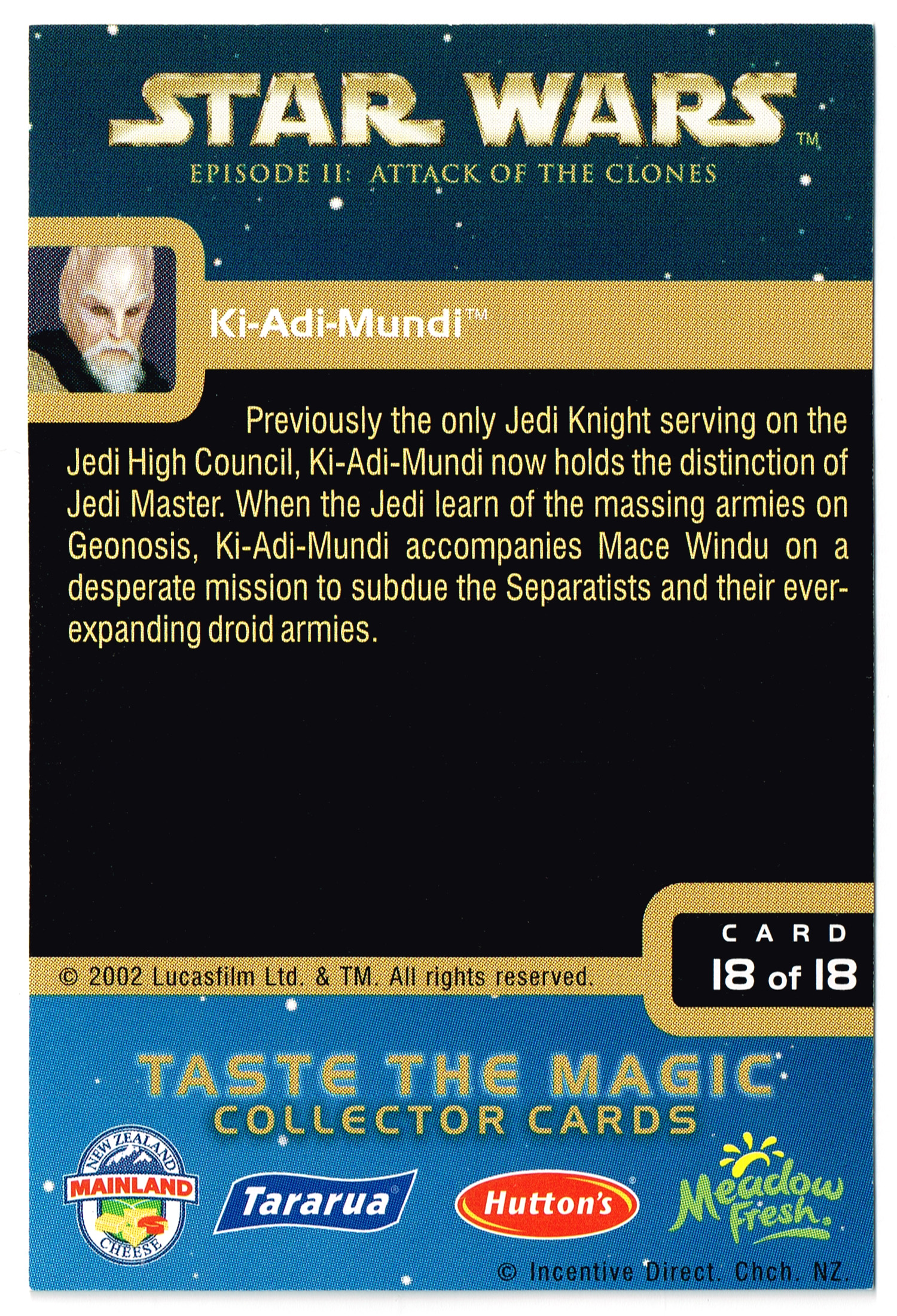 """Taste the Magic"" Collector Card 18 - Ki-Adi-Mundi"