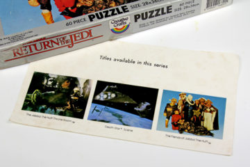 1983 Creative Crafts Return of the Jedi jigsaw puzzles