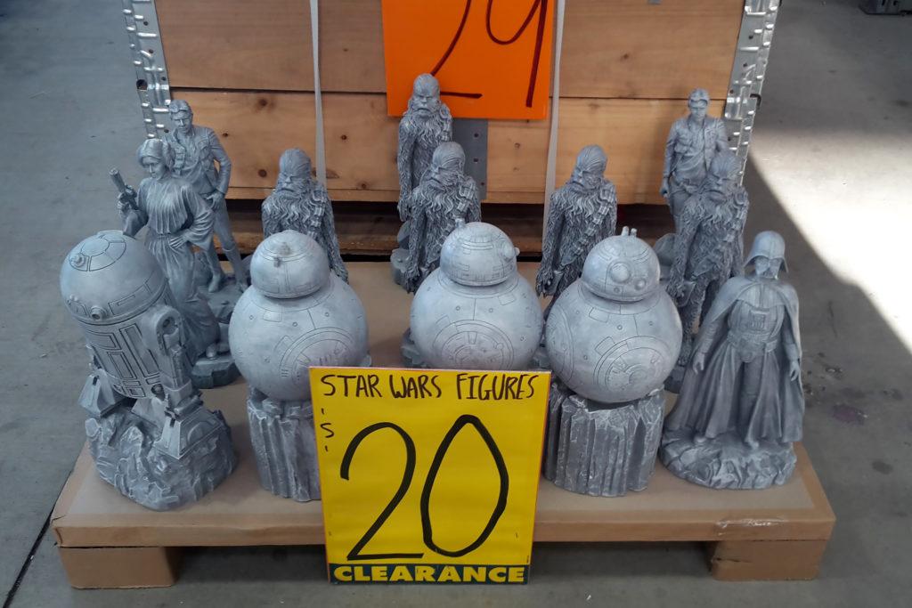 Star Wars Garden Statues