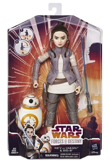 Star Wars Forces Of Destiny Rey and BB-8 Figure Pack at The Warehouse