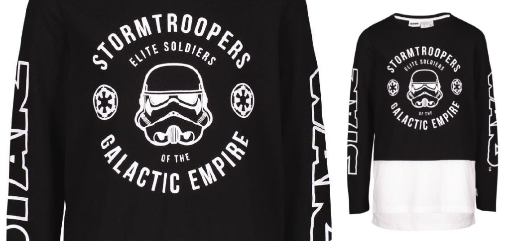 Kid's Star Wars Galactic Empire Long Sleeve Spliced T-Shirt at The Warehouse NZ
