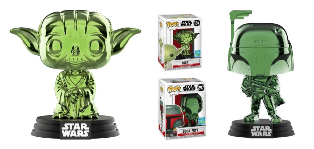 SDCC 2019 Exclusive Funko Pop! Vinyl Star Wars Figures - Yoda and Boba Fett