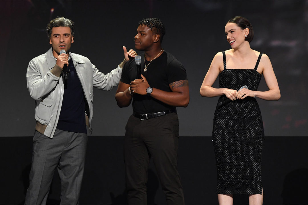 Oscar Isaac, John Boyega, and Diasy Ridley