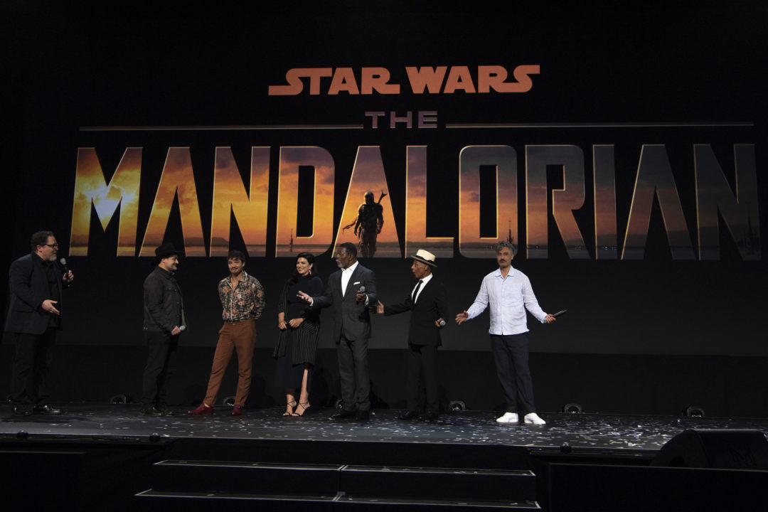 The Mandalorian cast and crew at D23 Expo 2019