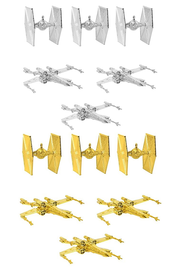 X-Wing vs TIE Fighter Christmas Decorations