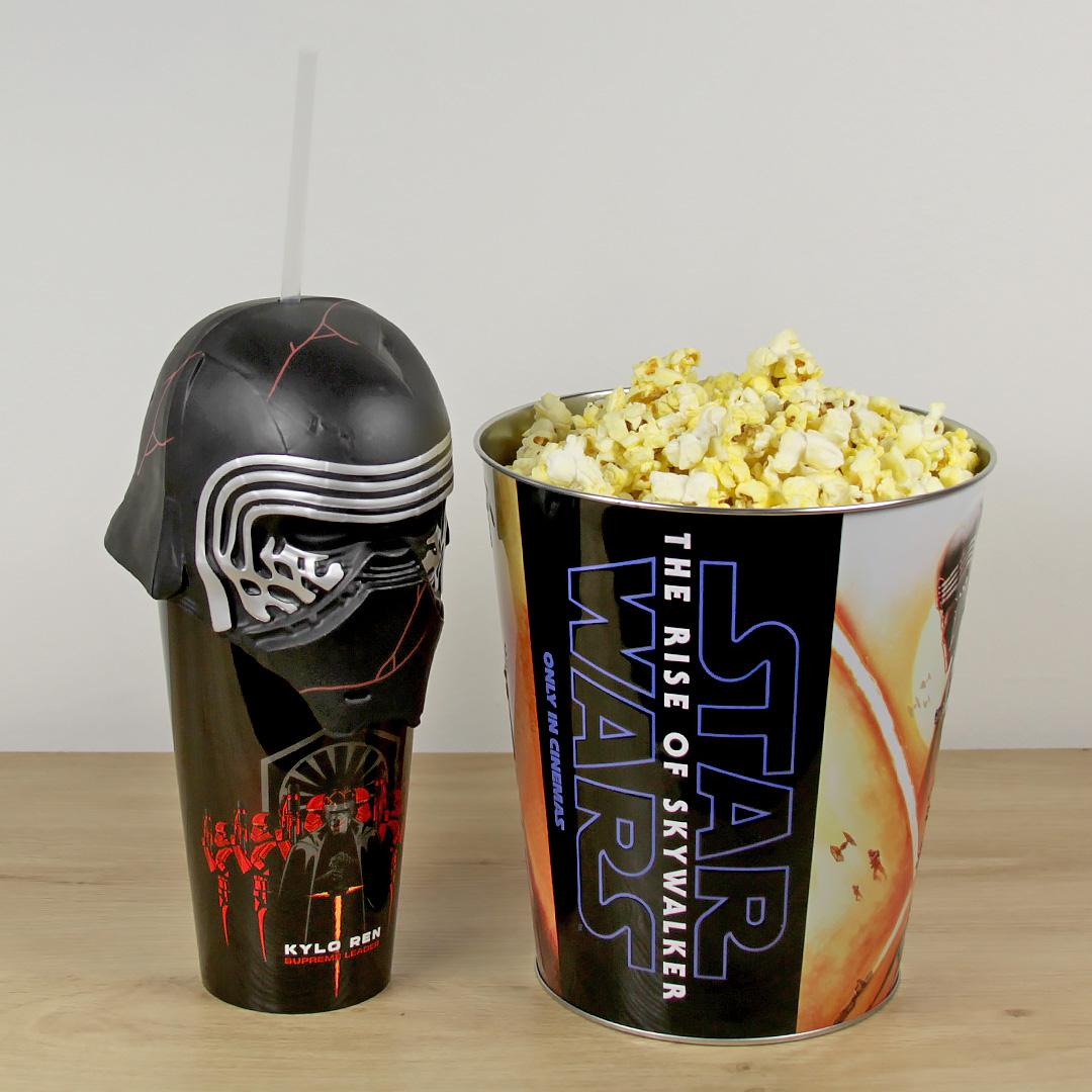 Kylo Ren Popcorn Bucket and Cup from Event Cinemas