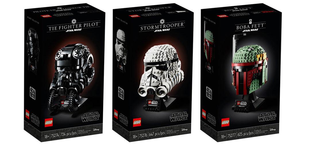 LEGO Star Wars helmets