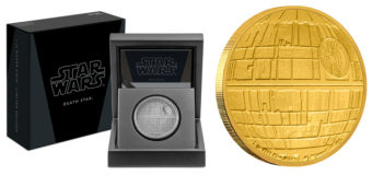 Silver and Gold Death Star Coins from NZ Mint