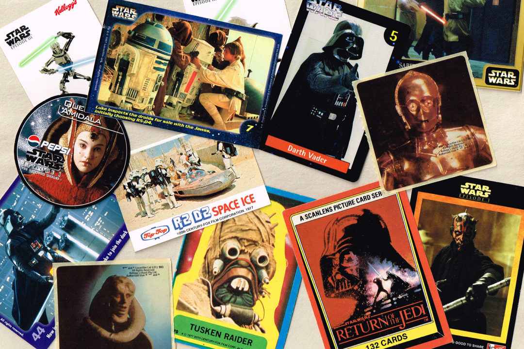 New Zealand Star Wars collectible cards and stickers