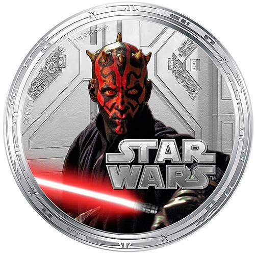 NZ Mint 1oz Silver Coin - Darth Maul