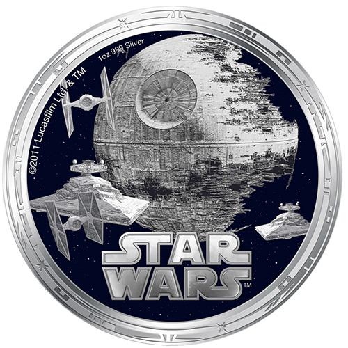 NZ Mint 1oz Silver Coin - Death Star