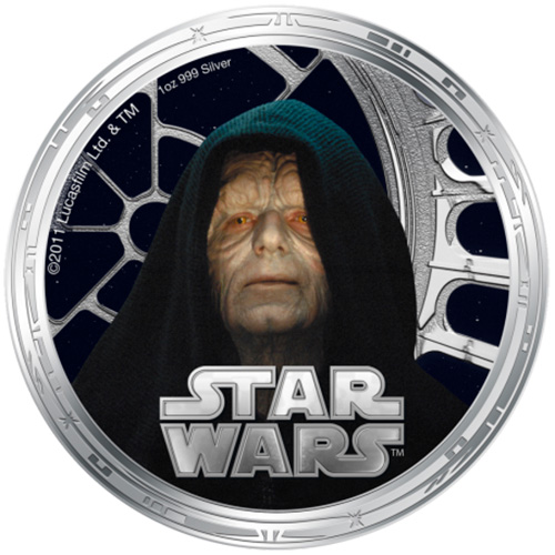 NZ Mint 1oz Silver Coin - Emperor Palpatine