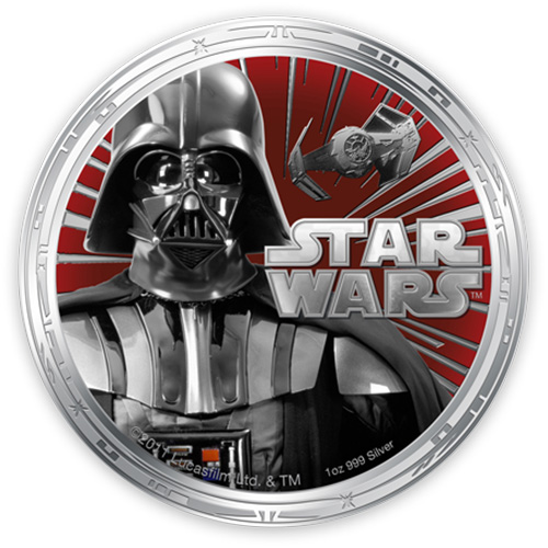 NZ Mint 1oz Silver Coin - Darth Vader