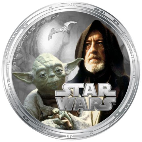 NZ Mint 1oz Silver Coin - Yoda and Ben Kenobi