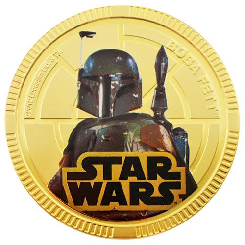 NZ Mint Gold Plated Base Metal Coin - Boba Fett