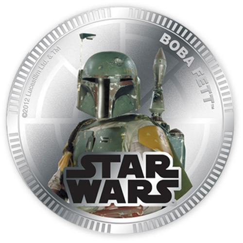 NZ Mint Silver Plated Base Metal Coin -Boba Fett