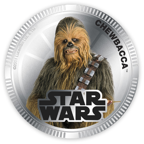 NZ Mint Silver Plated Base Metal Coin - Chewbacca