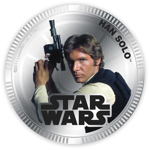 NZ Mint Silver Plated Base Metal Coin - Han Solo