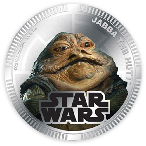 NZ Mint Silver Plated Base Metal Coin - Jabba The Hutt