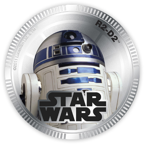 NZ Mint Silver Plated Base Metal Coin - R2-D2