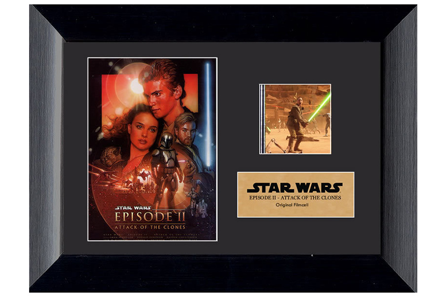 Star Wars Attack of the Clones Film Cell Display