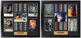 Star Wars Film Cell Displays at Mighty Ape