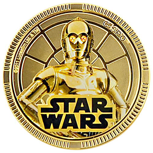 NZ Mint Gold Plated Base Metal Coin - C-3PO