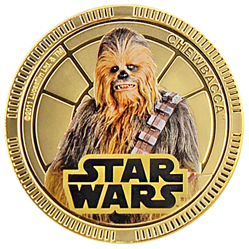 NZ Mint Gold Plated Base Metal Coin - Chewbacca