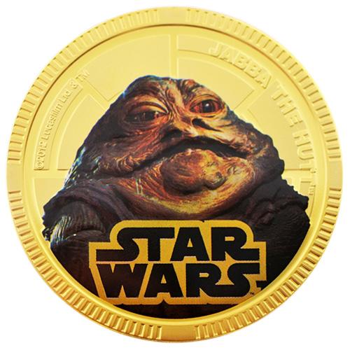 NZ Mint Gold Plated Base Metal Coin - Jabba The Hutt