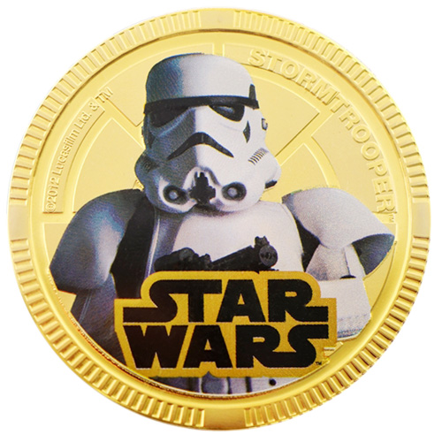 NZ Mint Gold Plated Base Metal Coin - Stormtrooper