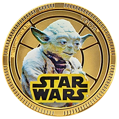 NZ Mint Gold Plated Base Metal Coin - Yoda