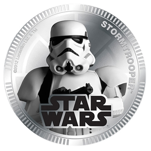 NZ Mint Silver Plated Base Metal Coin - Stormtrooper