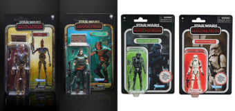 EB Games Exclusive Carbonized Vintage Mandalorian Figures