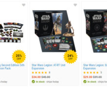 Star Wars Miniature Gaming Sets in Mighty Ape Birthday Sale