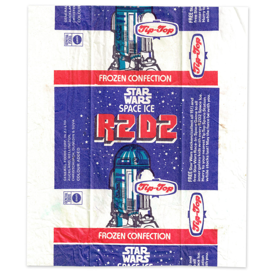 Tip-Top Ice Cream R2-D2 Space Ice Wrapper, 1977