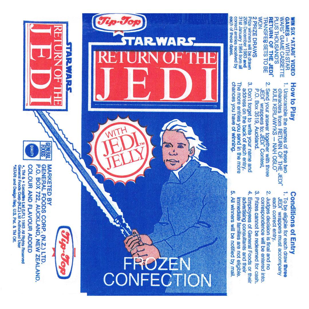 Tip-Top Return of the Jedi Ice-Block Wrapper, 1983