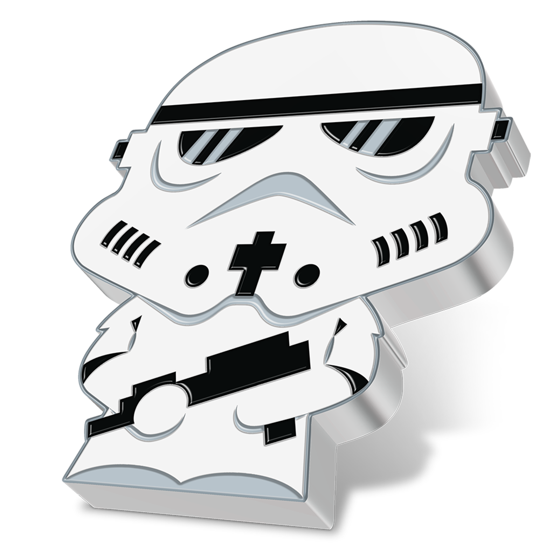 Star Wars Chibi Stormtrooper Silver Coin from NZ Mint