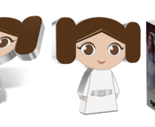 Princess Leia Chibi Silver Coin from NZ Mint