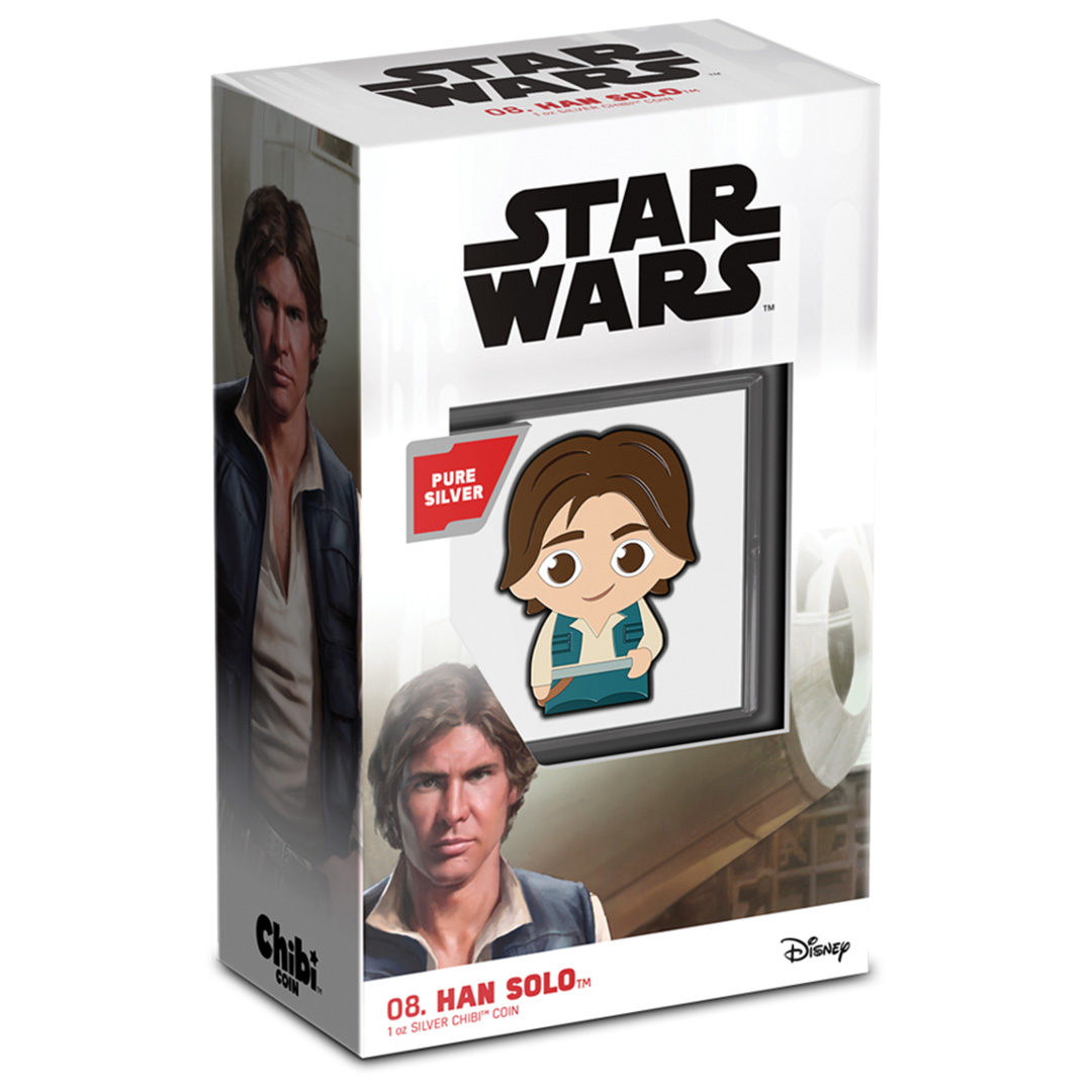 Star Wars Chibi Han Solo Silver Coin from NZ Mint