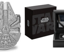 Millennium Falcon-Shaped Silver Coin from NZ Mint